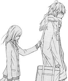 Anime Couples Not much of a romance reader, but this manga is so subtly adorable, the feminine side of me can't help but get sappy XD - Anime Couples Drawings, Anime Couples Manga, Cute Anime Couples, Anime Couples Hugging, Manga Anime, Art Anime, Anime Kiss, Manga Couple, Anime Love Couple