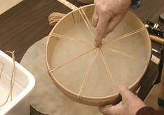 Watch the video below to learn how to make a Native American Hand Drum. Video produced by Noc Bay. Learn to make more Native American Crafts in our Craft Tutorials. Copyright: 2005 by Loren Woerpel, Noc Bay Publishing, Inc. Native American Projects, Native American Music, Native American Beading, Native American Jewelry, Native American Instruments, American Indians, American Symbols, Drum Lessons For Kids, Hand Drum
