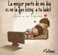 Siempre será esa la mejor parte de mis días. #TeAmo #AmoAMiEsposo