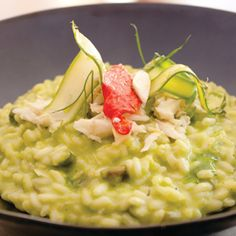 Green Asparagus Risotto With Jumbo Lump Crab From Executive Chef Maurizio Ferrarese of Quattro at the Four Seasons Hotel, in Houston