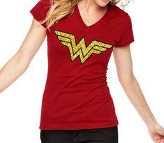 15c3de82 Wonderwoman t shirt - superhero Tshirt Sparkle gold decal Wonder Woman  inspired Logo Glitter Shirt - Super hero shirt for women - superwomen
