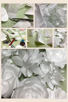 Discarded Medical Device Packaging Transformed into Beautiful White Flowers!