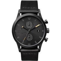 TRIWA Sort of Black系列雙眼時尚腕錶-黑-38mm / 北歐設計瑞典品牌 / 獨家限量 | TWELVE WATCH - Yahoo奇摩超級商城