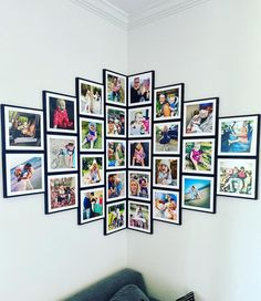 Photo Wall Layout, Gallery Wall Layout, Photo Wall Decor, Family Wall Decor, Wall Art Decor, Gallery Walls, Stairway Photos, Picture Arrangements, Photo Tiles