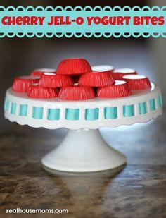 Cherry JELL-O Yogurt Bites
