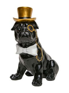 Dog With Bow Tie & Glasses Bank