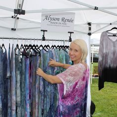 Still beaming from our Hampton's show 💕💙. Thanks to ALL of our lovely customers for allowing us to do what we love. Every compliment, smile & purchase is sowing into our dream biz.  . #MadeInNYC #bohemian #boho #kimono #tiedye #summerstyle #resortwear