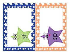 Slippery Snails or Sparkling StarsFor this activity, students match the words endings to the correct s-blend.  The s-blends included are sl, sn...