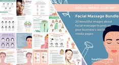 ❤️SOCIAL MEDIA CONTENT ❤️ 👩 Facial Massage Bundle 👩 Spa days are known for their relaxing and glowing experiences. Not only do you feel like a puddle of calm afterwards, but if you got a facial massage, your skin is probably rejuvenated and glowing. With this bundle, you can give your social media followers tips on how to do a facial massage at home, the benefits of facial massage, crystal rollers, and more! #Massage #FaceMassage #Facial Social Media Images, Social Media Content, Under Eye Puffiness, Sinus Congestion, Face Massage, Younger Skin, Muscle Tension, Massage Techniques, Jawline