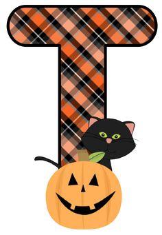 Disney Halloween, Halloween Ii, Halloween Clipart, Halloween Images, Holidays Halloween, Halloween Pumpkins, Happy Halloween, Halloween Decorations, Monogram Alphabet