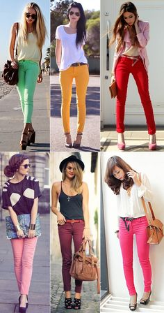 colored jeans I gotta get me some!!