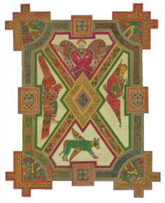 Celtic Art The Four Evangelists Counted Cross Stitch Pattern Religious