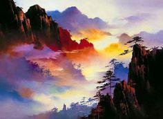 Risultati immagini per tipos de pintura em tela Art Watercolor, Watercolor Landscape, Landscape Art, Landscape Paintings, Watercolour Paintings, Impressionist Landscape, Acrylic Paintings, Beautiful Paintings, Beautiful Landscapes