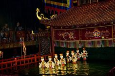 Performance at Thang Long Water Puppet Theatre.