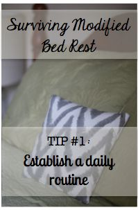 The Simple Mamas: Tips for Surviving {Modified} Bed Rest #1