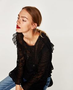 Image 3 of ROMANTIC BLOUSE from Zara