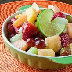 Honey-Lime Fruit Salad Recipe on Yummly