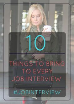 infographic : 10 Things To Bring To Every Job Interview   #JobInterview #InterviewTips