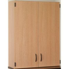 """Stevens ID Systems Science 48"""" H x 36"""" W Desk Door/Shelf Hutch Finish: Light Oak"""