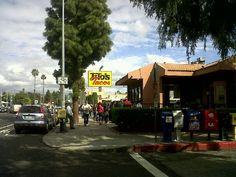 What (to eat) in LA: Rain or shine always a line    Tito's Taco, Culver City