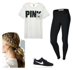 """workout chic"" by paigeroseman12 on Polyvore featuring NIKE and Victoria's Secret"