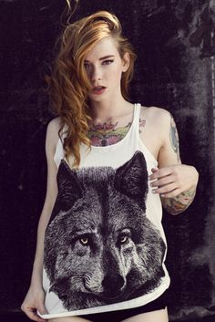 i've always wanted a shirt w/a wolf on it.