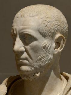 Marcus Claudius Tacitus, the Emperor. Marble. 275-276 CE. Inv. No. MR 558 / Ma 1018. Paris, Louvre Museum. (Photo by I. Sh.).