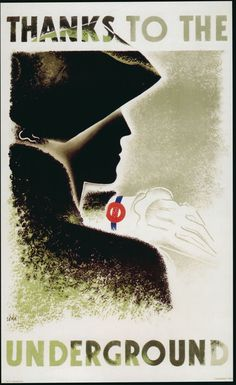 London: By Zero (Hans Schleger), 1 9 3 Thanks to the Underground, © TfL/London's Transport Museum. >> See the Deals! Underground Tube, London Underground, Diesel Punk, Design Museum, London Transport Museum, British Travel, Propaganda Art, Tourism Poster, Railway Posters