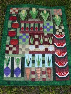a veggie garden quilt