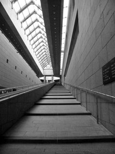Stairs at the National Gallery in Ottawa, Canada.