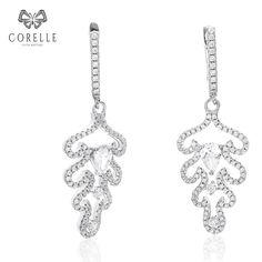 Cercei argint Latch Back Drop Earrings Zirconii Bijuterii - Corelle Jewerly, Backdrops, Drop Earrings, Diamond, Cod, Jewlery, Schmuck, Cod Fish, Jewelry
