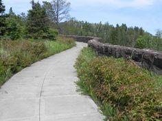 Civilian Conservation Corps stonework at Gooseberry Falls State Park, Minnesota
