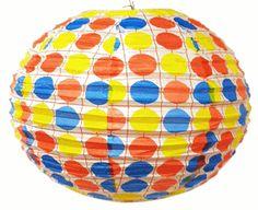 "16"" Color Polka Dots Paper Lantern"