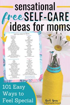 Self-care is essential but can feel impossible when you're a busy mom. Discover sensational ways to enjoy self-care time with these 101 ideas & activities. Includes free printable list with categories to help you select the self-care you need. Tough Day, Attachment Parenting, Self Care Routine, Healthy Kids, Take Care Of Yourself, Self Help, Free Printable, How Are You Feeling, Mom