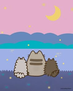 Cool Black Wallpaper, Old Wallpaper, Pusheen Love, Pusheen Stuff, Pusheen Stickers, Cute Drawings, Cartoon Drawings, Cutest Cats Ever, Kawaii Potato