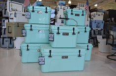 The limited edition Sea Foam Yeti coolers are back!  This will be the last time we are able to get these coolers so don't miss your chance to buy one of these coolers!