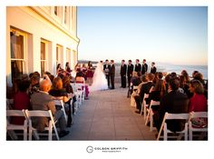 The Cliff House, San Francisco.  Love this iconic location for an outdoor ceremony in San Francisco sitting right next to the ocean!