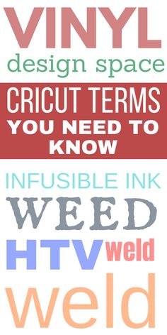 Getting started with a Cricut machine? #ad Lets learn all the Cricut terms you need to know to get started and to get you familiar with your machine and what it can do. #cricut #cricutcreated Craft Projects For Adults, Easy Crafts For Kids, Cool Diy Projects, Vinyl Projects, Project Ideas, Craft Ideas, Cricut Craft Machine, Cricut Craft Room, Thrift Store Crafts