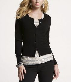 Black cardigan sweaters...I have too many!