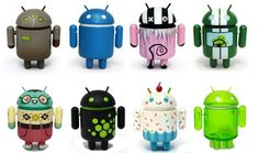 Funny and cool mini android dolls.