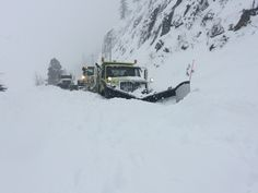 Several snow slides closed US 12 White Pass on Wednesday, Feb. 8. The slides were so deep that they partially buried one of our snow plows. Fortunately, the driver was unhurt and the plow wasn't damaged.