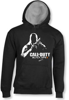 FELPA CALL OF DUTY BLACK OPS II 2 CON CAPPUCCIO