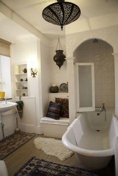 Bathroom next to Moroccan Bedroom