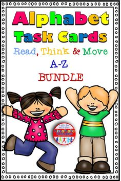 Are you tired of the same old literacy centers? Do your kids need to get up and move? Do you love it when your kids are loud, busy, and engaged? Then this alphabet workshop is just what you need! It is a money-saving bundle of my individual sets. Teaching The Alphabet, Alphabet Activities, Educational Activities, Teaching Reading, Kinesthetic Learning, Fun Learning, Reading Task Cards, Love Teacher, Kids Moves