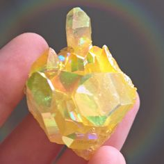 Lemon Yellow Sunshine Magic Aura Quartz Crystal Cluster | Rainbow Aura Quartz  dreamclub.etsy.com