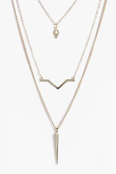 LARA LAYERED BAR CHAIN NECKLACE IN SILVER a0HO9V
