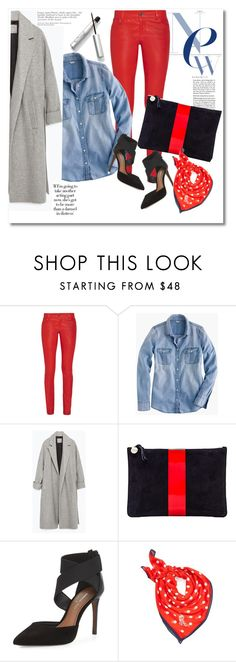 Look the day by vkmd on Polyvore featuring J.Crew, Zara, Alice + Olivia, Donald J Pliner, Clare V. and Lauren Ralph Lauren