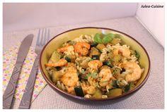 Julea Cuisine - Ma petite cuisine au quotidien: Pâtes aux courgettes, crevettes…