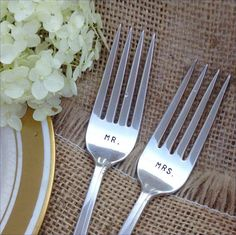 Mr. and Mrs. Recycled Vintage Flatware by Blithe by Blithevintage, $22.00