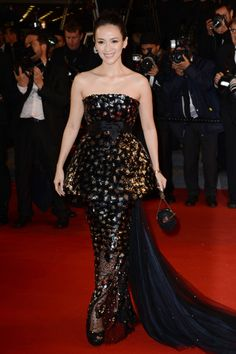 Fabulously Spotted: Zhang Ziyi Wearing Chanel Couture - 'Only God Forgives' 2013 Cannes Film Festival Premiere - http://www.becauseiamfabulous.com/2013/05/zhang-ziyi-wearing-chanel-couture-only-god-forgives-2013-cannes-film-festival-premiere/